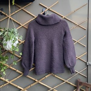 Club Monaco Purple Alpaca Wool Turtleneck Sweater